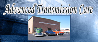 Advanced Transmission Care logo with vehicles