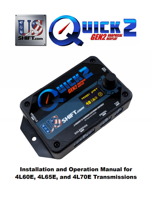 Quick 2 4l60e installation manual