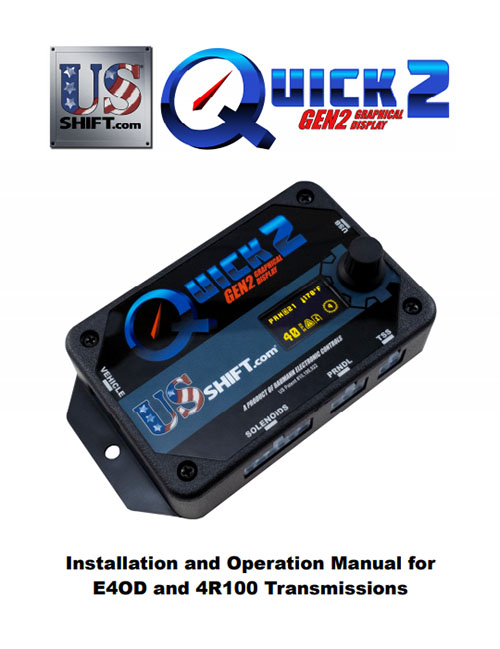 Quick 2 e4od installation manual