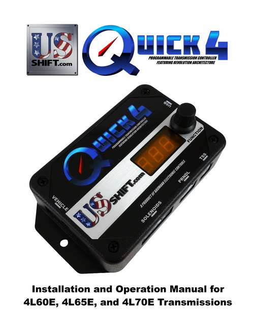 Quick 4 4l60e installation manual