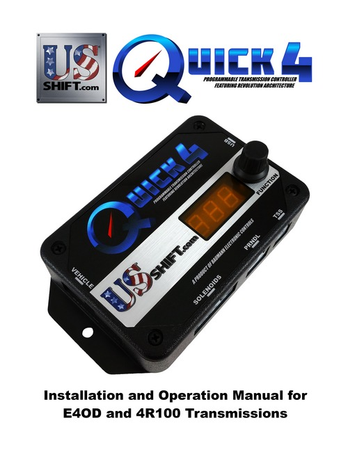 Quick 4 e4od installation manual