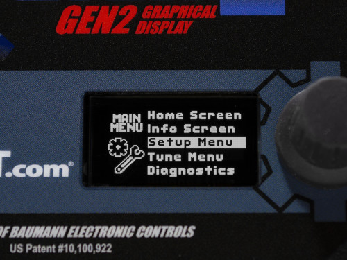 Closeup of the Gen2 Graphical Display