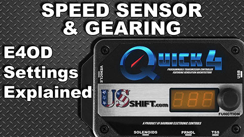 Ford E4OD Speed Sensor Settings