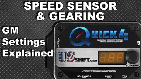 GM Speed Sensor Settings