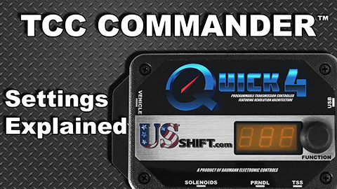 TCC Commander Settings
