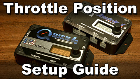 Throttle position setup guide