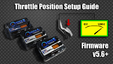 Throttle position setup guide video
